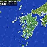 九州 発達した雨雲南下 鹿児島で1時間に50ミリ以上の非常に激しい雨