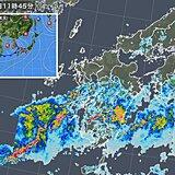 九州南部 今夜にかけて滝のような雨 土砂災害に厳重警戒