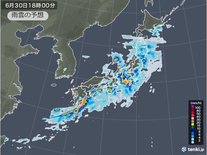 九州から関東甲信 大雨のおそれ