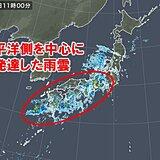朝は高知県で猛烈な雨 近畿や東海でも激しい雨を観測