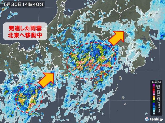 東海・長野県南部 この梅雨で一番の大雨のおそれ