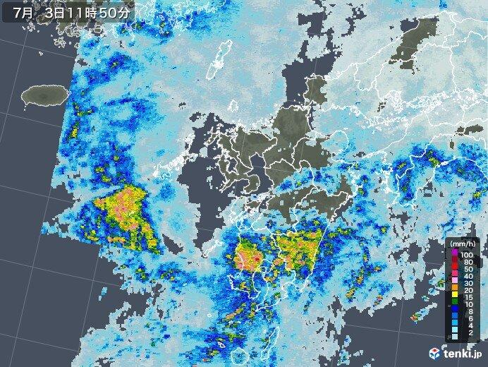 九州南部で激しい雨 引き続き雷雨や大雨に警戒
