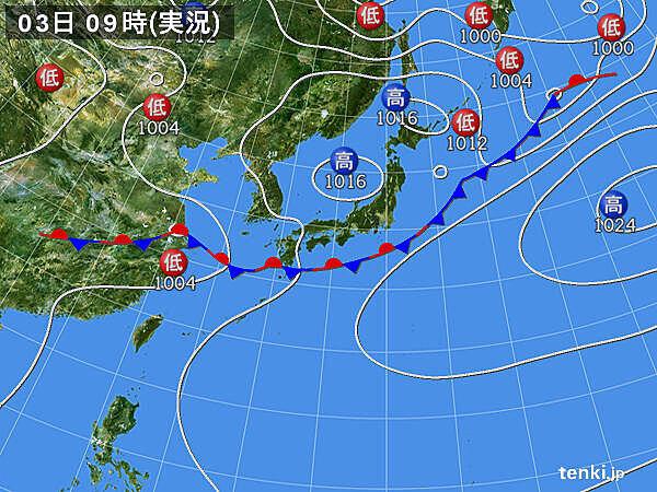 九州南部に活発な雨雲 午後は四国や近畿・北陸でも雷雨や大雨_画像