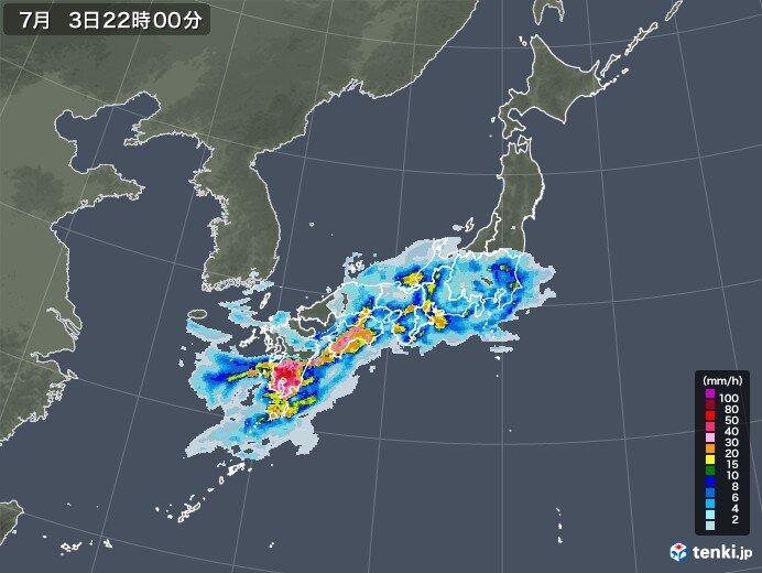 四国から東海・北陸 午後は大雨や雷雨の範囲東へ広がる