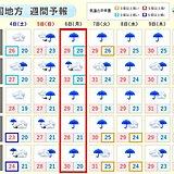 中国地方 来週にかけて長雨となり、週明けには大雨のおそれも