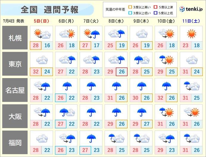 梅雨の最盛期 まだ続く大雨