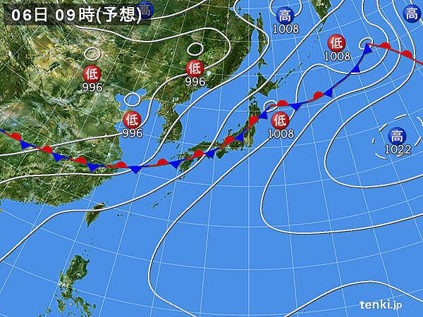 5日(日)夜は九州は本格的な雨 6日(月)~8日(水)は広く大雨の恐れ