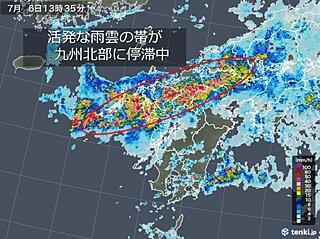 九州北部 土砂災害や洪水の危険度が急上昇