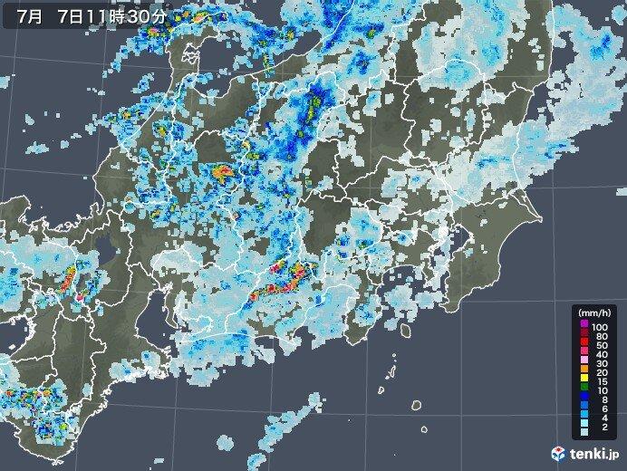 岐阜県・長野県南部を中心に大雨