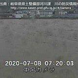 岐阜県 「飛騨川」で氾濫発生
