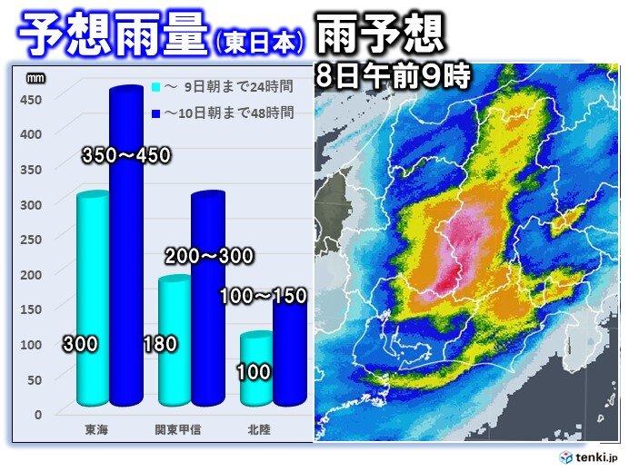 雨の見通し(東日本)