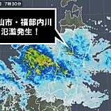 秋田県大仙市福部内川(ふくべないがわ)で氾濫発生