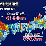 九州や東海を中心に「記録的な大雨」 総雨量1000ミリ超えも