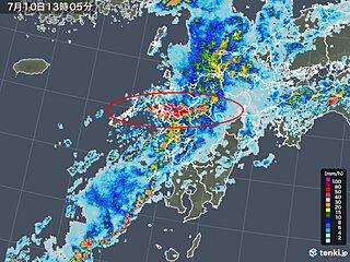 長崎・佐賀で猛烈な雨 雨雲急速に発達中