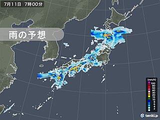 東北も大雨に ふだん雨量が多くならない山陽などでも「警報級」続く恐れ