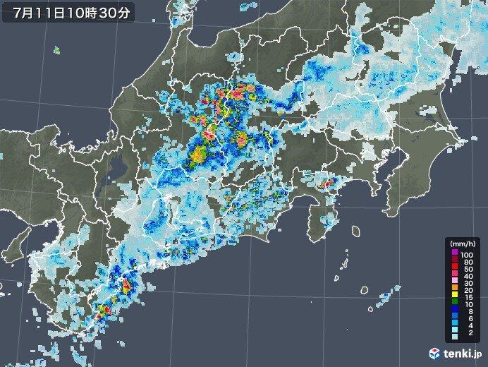 岐阜県下呂市萩原などで激しい雨を観測 3日からの雨量は平年7月の2倍超