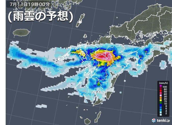 夕方以降、再び激しい雨が降る所も