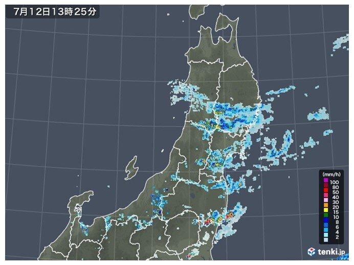 夕方にかけて、急な強い雨・落雷に注意