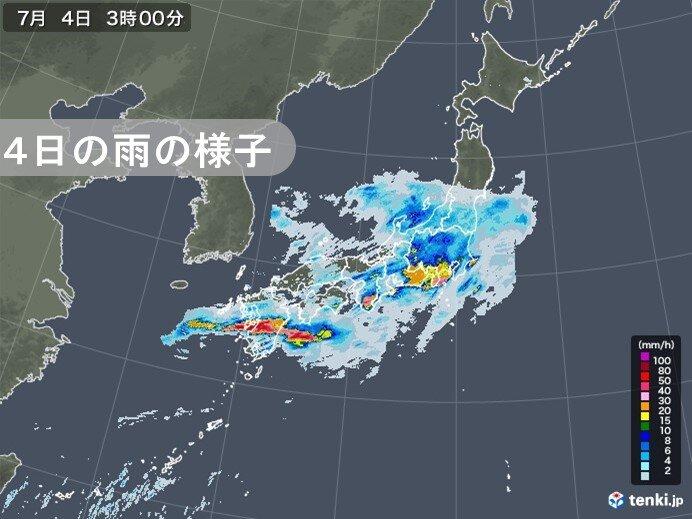 梅雨末期 3日(金)から記録的な大雨 「線状降水帯」