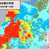 北陸 明日14日は未明~朝を中心に大雨に要警戒