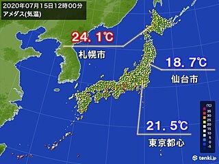 正午の気温 東京都心や仙台 札幌より低く 5月並み