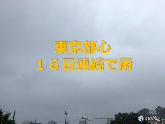 続く梅雨空 東京都心 16日連続で雨 日照時間は平年の半分以下