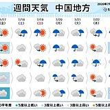 中国地方 向こう一週間も日差しは少なく 梅雨明けは24日以降に