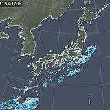 関東~近畿中心に夕方以降も局地的に雨雲 沿岸部で激しく降る所も