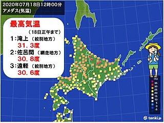 北海道8日ぶりの真夏日