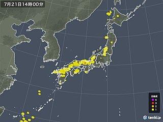 近畿などで落雷を観測 このあとも日本海側を中心に雷雨に