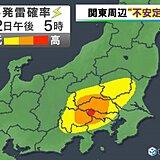 22日 帰宅時 東京都心部でも土砂降りの雨に注意!