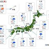23日 梅雨空続く 九州 今夜から大雨に注意
