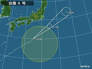 11日 台風北上 関東と東北で激しい雨