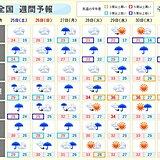 週間天気 大雨のあと 西から晴れて気温上昇 猛暑日も