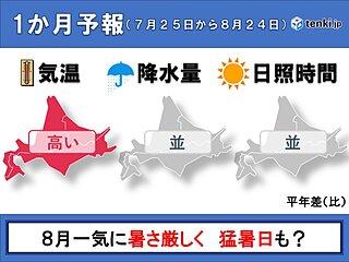 北海道の1か月 8月は猛暑日も