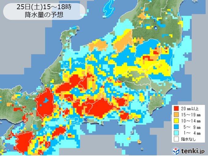 関東甲信 雨雲が次々と流れ込む いったん雨がやんでも急な激しい雨に注意