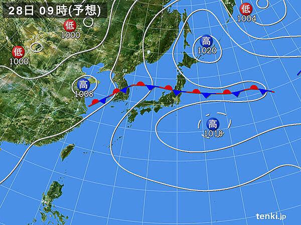 28日(火)~29日(水) 北陸や東北の大雨続く 警報級の恐れ