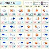 週間 北陸や東北で警報級の大雨の恐れ 九州など梅雨明けか 猛烈な暑さに