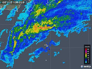 伊豆諸島200ミリ超の大雨 台風5号