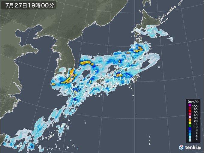午後も激しい雨に注意 局地的には非常に激しい雨も