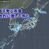 九州など所々に活発な雨雲 帰宅時にかけて あちらこちらで激しい雨
