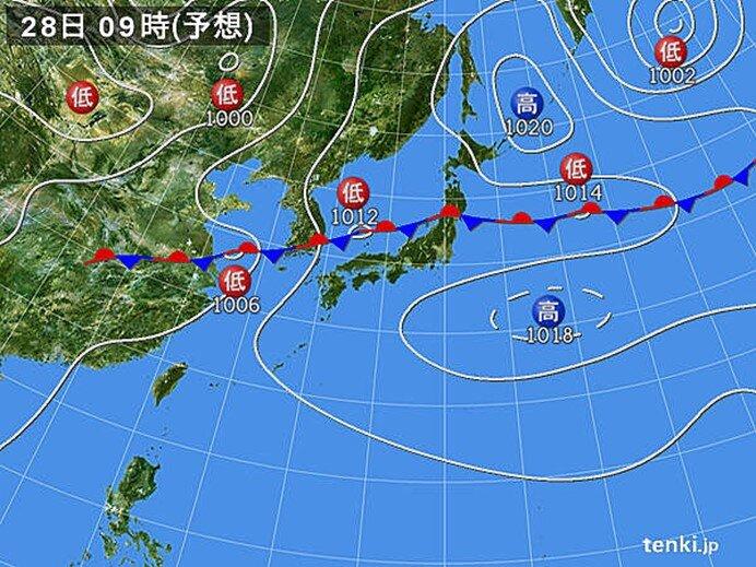 新潟県では記録的な大雨の可能性も