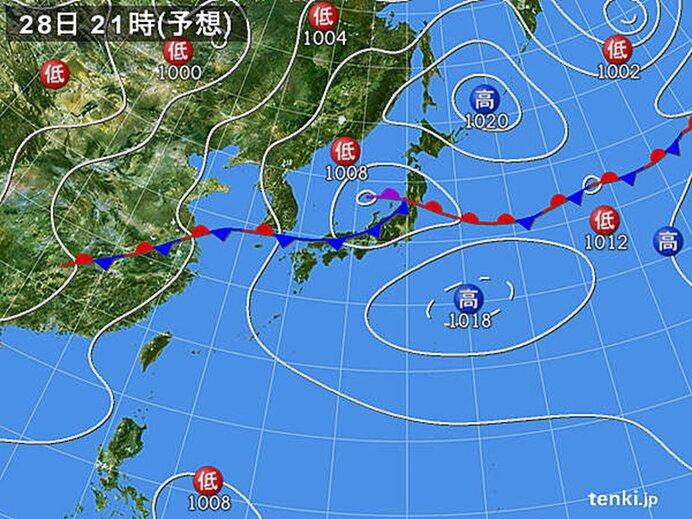 きょうの天気 北陸、東北を中心に大雨警戒