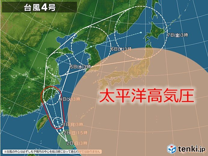 7月ゼロの台風が8月1日に2個も発生