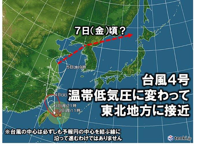 東北 7日(立秋)頃は海上を中心に荒れた天気となるおそれ