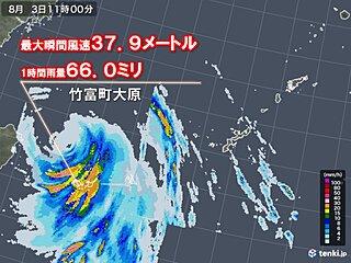 台風4号 沖縄八重山地方で非常に強い風や非常に激しい雨 昼過ぎまで警戒