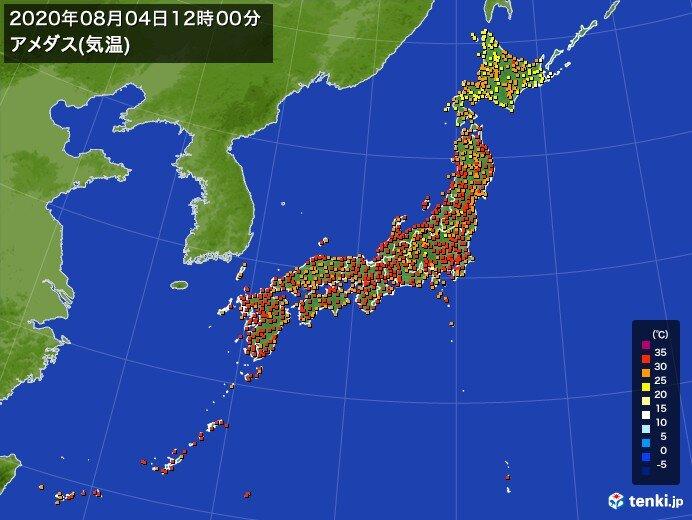 広く猛暑日予想 岩手県ですでに気温35度超え