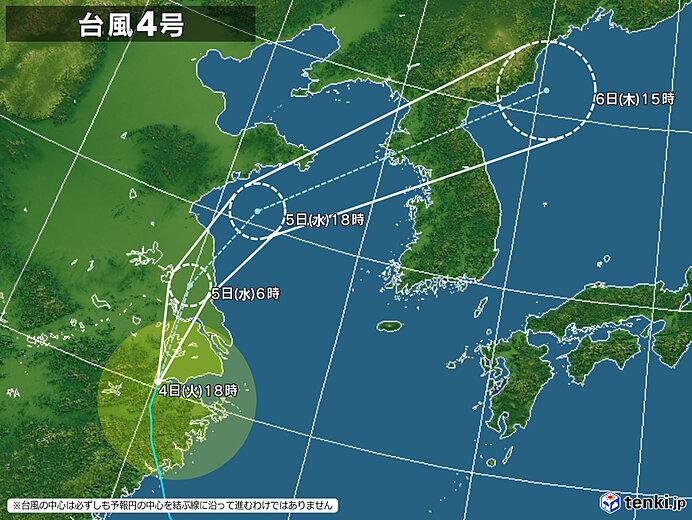 北海道は今後の台風4号の動向にも注意