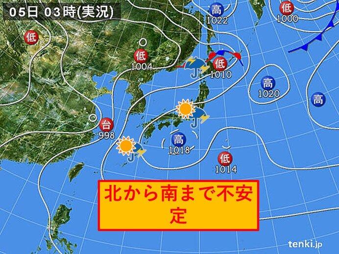 きょうの天気 北海道 大雨や土砂災害などに警戒