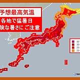 6日 酷暑列島 東北から九州で猛暑日予想